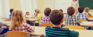 Kids learning in class